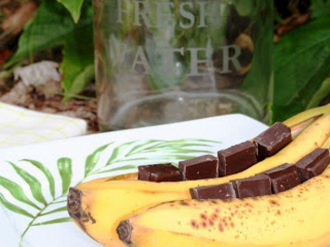 Recette Dessert : Bananes au chocolat au barbecue par Petitloutron