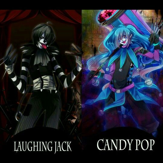 Laughing jack and candy pop<<Is it just me, or foes it look like they're about to brawl/rap battle? XD