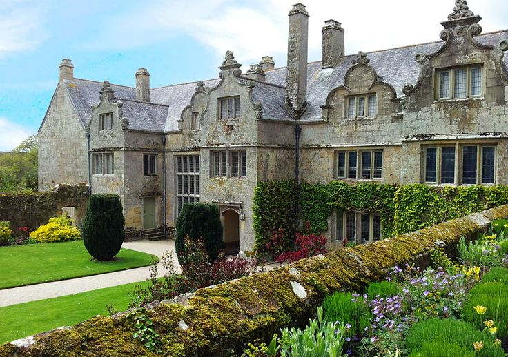 The Elizabethan manor house of Trerice, located a few miles outside of Newquay. This view is the facade with it's Dutch-style gables built on an E plan. The house dates back to 1573 and was built by Sir John Arundell. Trerice stayed in the family for over 400 years before changing hands a number of times. In 1953 the estate was acquired by the National Trust.