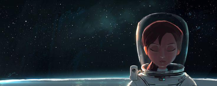 Space Girl by GorosArt on DeviantArt