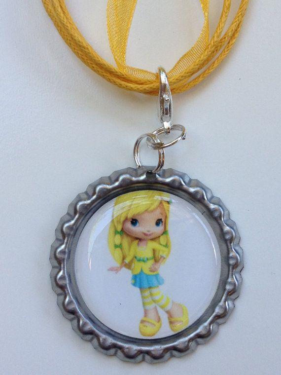 Lemon Meringue Boutique Bottlecap Pendant Necklace by OliverandMay, $4.85