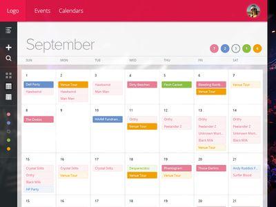 Booking Calendar design found on Dribbble.