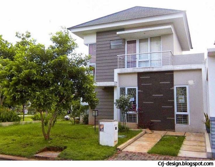Desain rumah 2 lantai  Sumber : http://crj-design.blogspot.com/2014/10/inspirasi-desain-rumah-minimalis-2.html