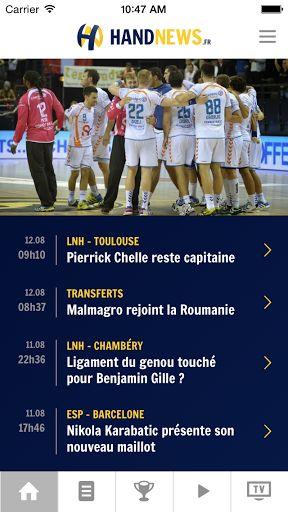 L'application Handnews est la déclinaison du site internet d'informations Handnews spécialisé sur l'actualité du handball français et international. Handnews est la 1ère application francophone pour smartphone dédiée à l'actualité du handball. <p>Avec cet