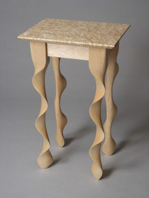 Maple Wood Side Table If you want to learn woodworking techniques, try http://www.woodesigner.net