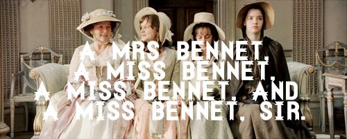 Cap'n Quote: Brenda Blethyn (Mrs. Bennet), Carey Mulligan (Kitty Bennet), Jena Malone (Lydia Bennet) & Talulah Riley (Mary Bennet) - Pride & Prejudice (2005) directed by Joe Wright #janeausten