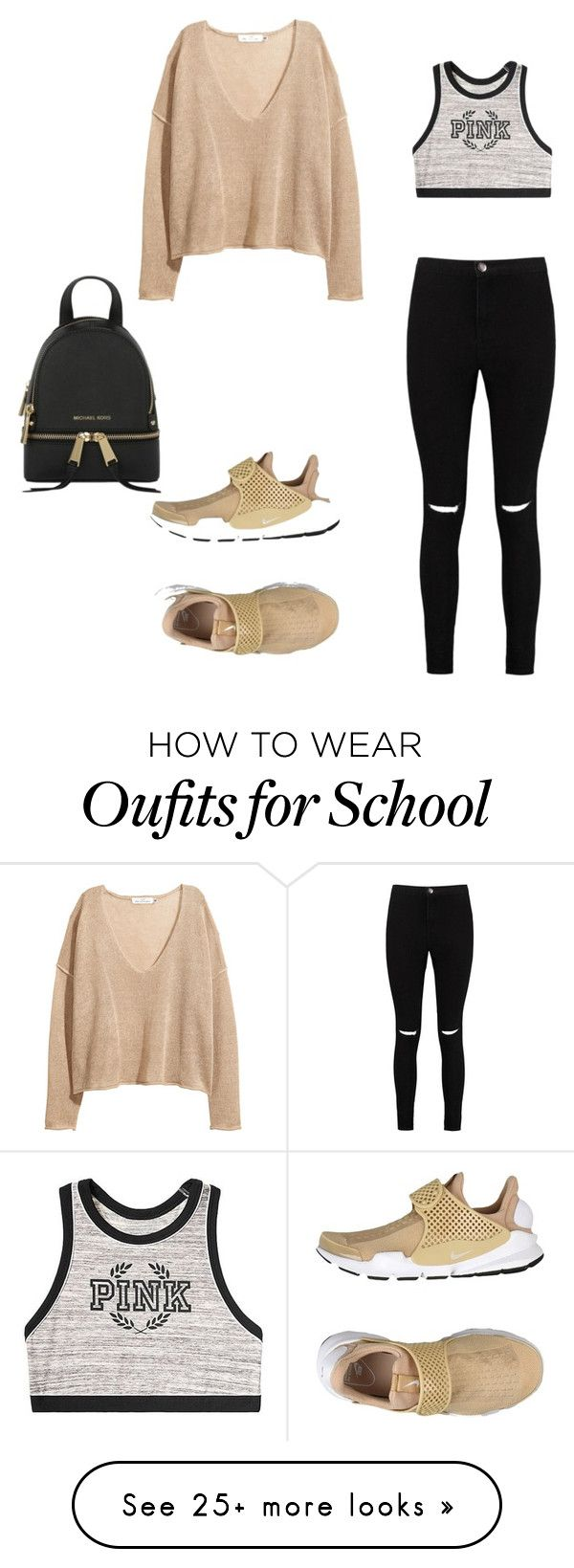 """school days"" by idebbieluna on Polyvore featuring NIKE, Boohoo, Victoria's Secret and MICHAEL Michael Kors"
