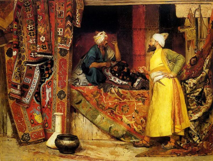 "laclefdescoeurs: ""Carpet Seller, Jehan Georges Vibert """