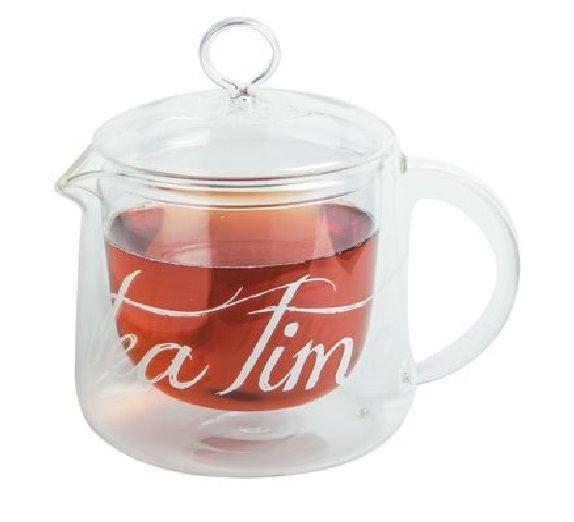 Szklany dzbanek imbryk do herbaty TEA TIME 1,2l MAISON THE TEA