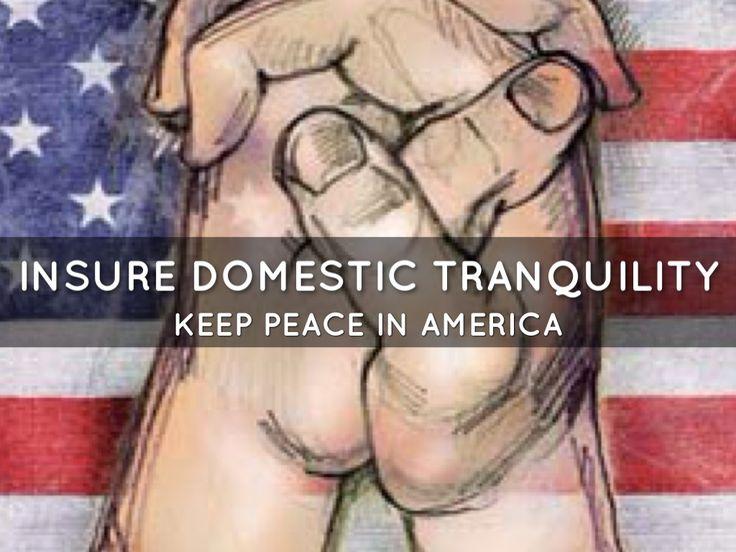 Insure Domestic Tranquility Clip Art