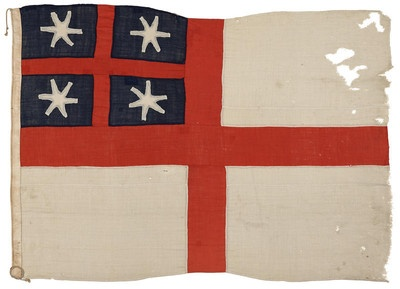 Flag of the United Tribes of New Zealand. Source: Museum of NZ Te Papa Tongarewa Via: @nzmuseums