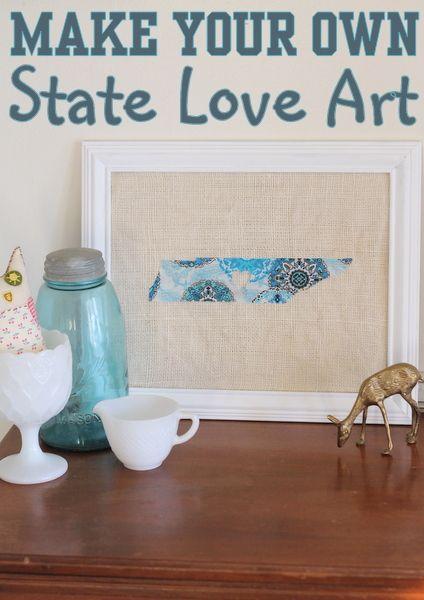 diy state love art - Home Decor Crafts