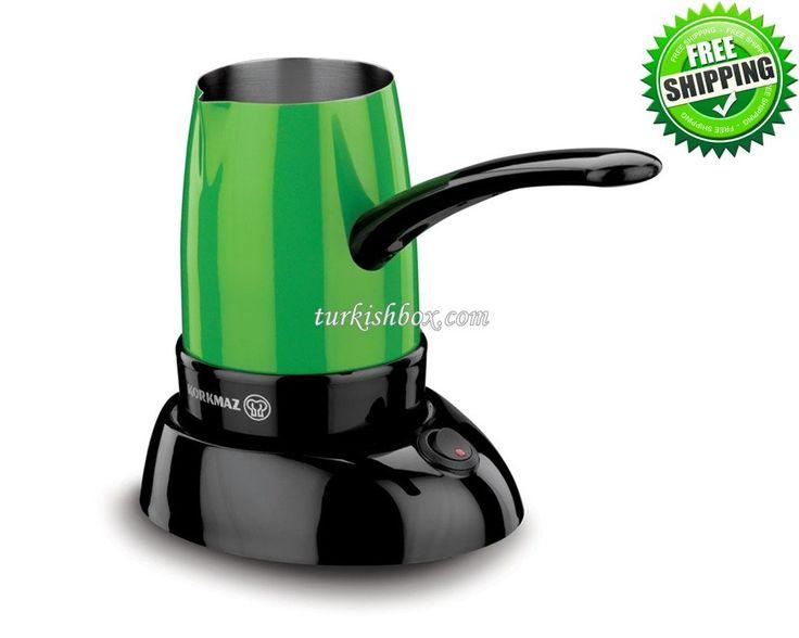Turkish Coffee Maker - Korkmaz A365 Green - http://turkishbox.com/product/turkish-coffee-maker-korkmaz-a365-green/  #turkishtowels #peshtemals #turkishproducts
