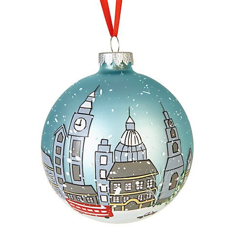 Buy John Lewis Tourism London Scene Illustrated Bauble Online at johnlewis.com