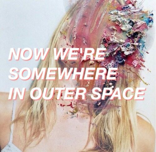 Lyrics containing the term: outer space