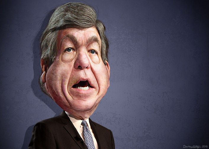 https://flic.kr/p/JKkw23 | Roy Blunt - Caricature | Roy Dean Blunt, aka Roy Blunt, is a Republican US Senator from Missouri.  This caricature of Roy Blunt was adapted from a Creative Commons licensed photo from Gage Skidmore's Flickr photostream.