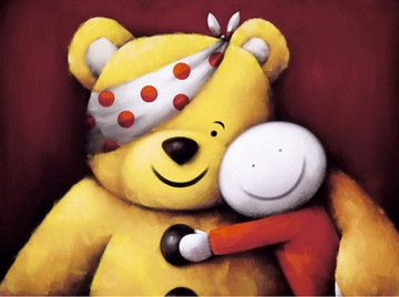"Pudsey by Doug Hyde  Edition of 995 - Image Size 16"" x 12"" - Framed Price £275  Please call us on 01636 646426 for more details!  A percentage of every sale goes to the Children In Need Appeal"