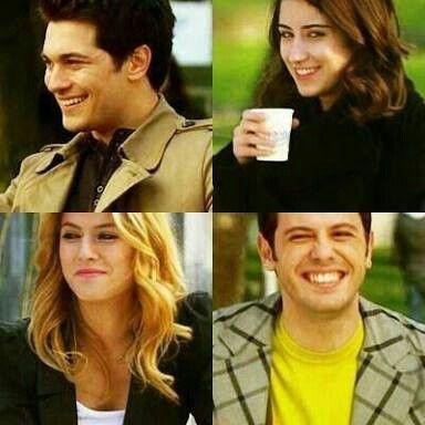 Their first look.... Emir...Feriha....Koray.. Hande