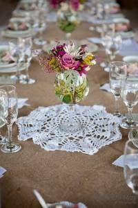 Flowers picked fresh from the farm decorates your High Tea table at Rosemary Hill.