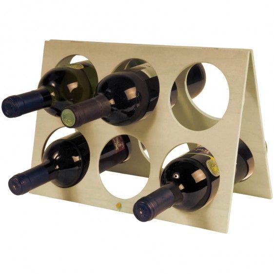 Stand portabottiglie in legno,  per 6 bottiglie! €1.83 IVA Inclusa http://www.ibiscusgadget.it/prodotto/cantina/
