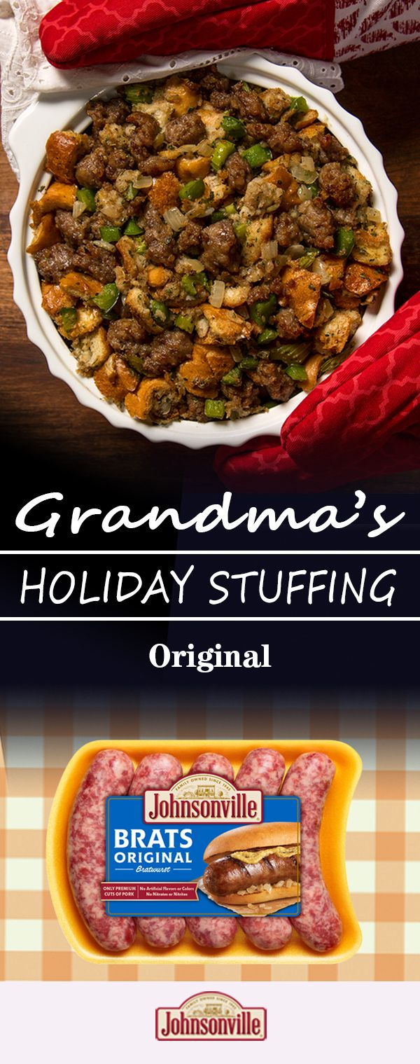 If you like your Thanksgiving turkey to take center stage, consider a stuffing that's happy to play a supporting role: our Original Holiday Stuffing. A classic in every sense of the word, this perfect side dish features Johnsonville Original Bratwurst – and will have you dreaming of holidays past with every delicious bite.