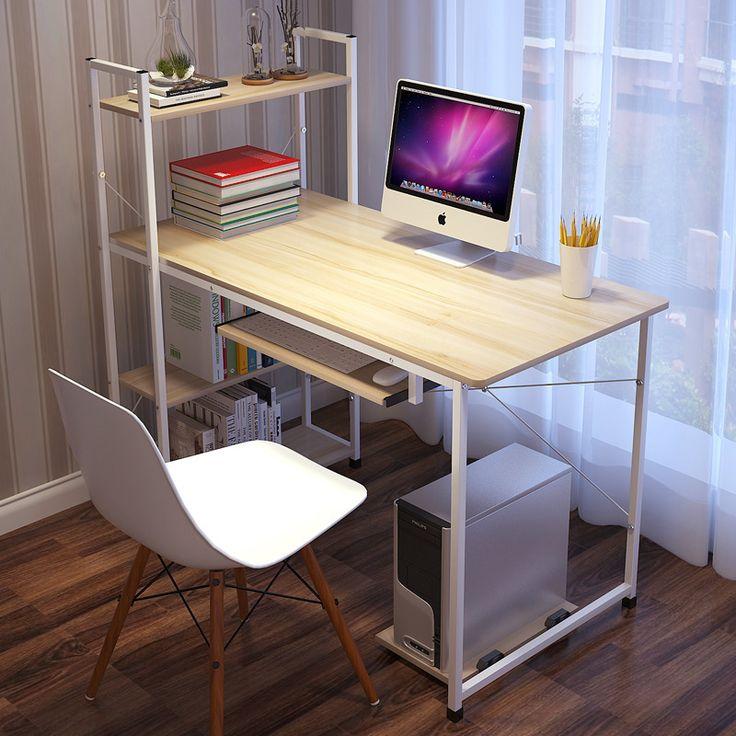 Moderno Semplice Desktop Del Computer Scrivania di Apprendimento Degli Studenti di Scrittura Tavolo Scrivania Del Computer di Legno Scrivania Portatile