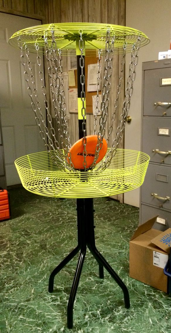 DIY disc golf repurpose table craft crafty frisbee discgolf innova do it yourself outdoor game