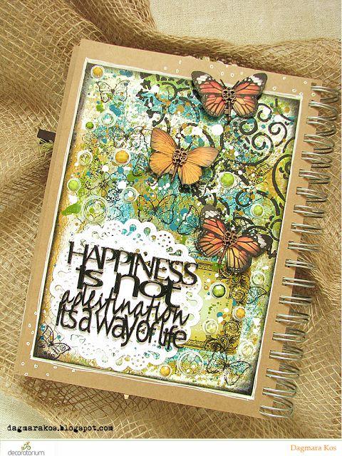 decoratorium: Inspiracja Dagmary - Art Journal Happiness