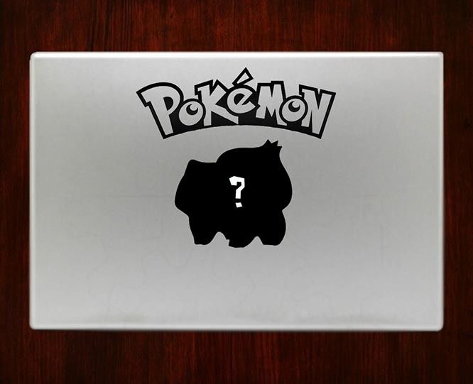 Whos that pokemon bulbasaur decal sticker vinyl for macbook pro air 13 inch 15
