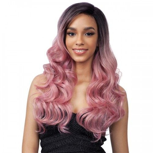 """Premium Delux Lace Front Wig Deep-N-Wide FLAT """"Laid"""" Parting Natural hand-tied Lace Parting Curling iron safe up to 400°F Color shown on main model: PINK GOLD"""