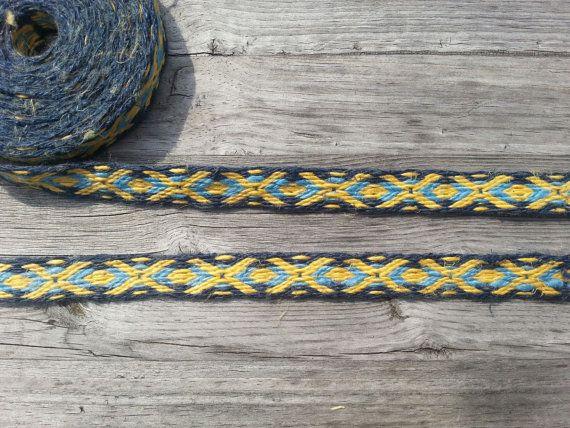 Tablet weaving braid, linen, card weaving trim