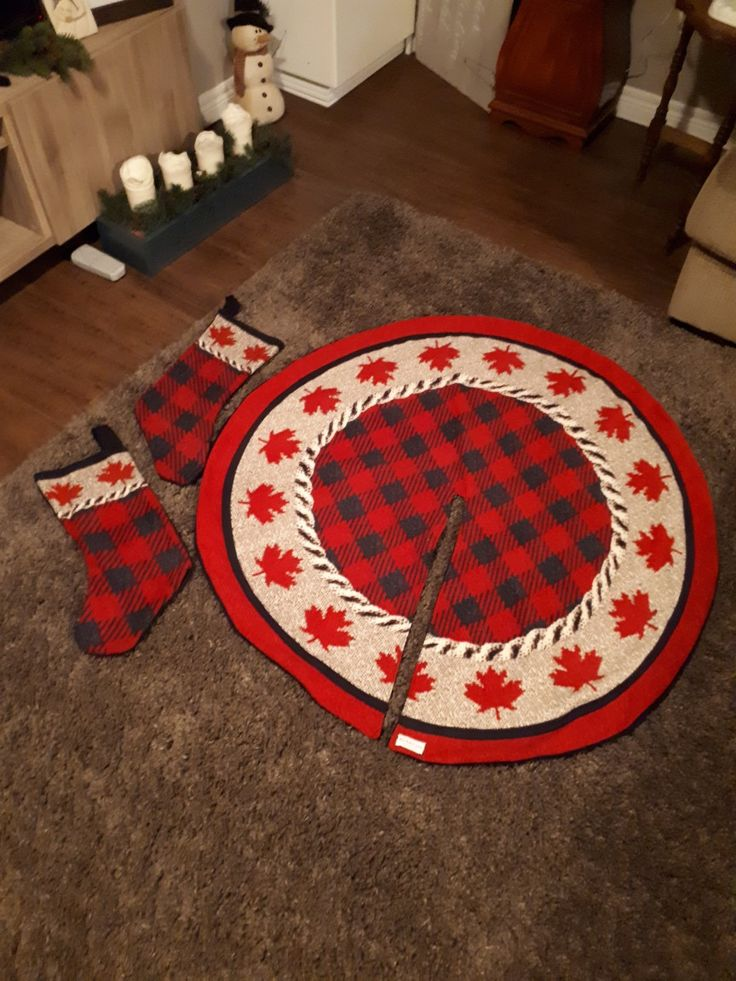 Tree skirt and stockings sewn by  'this baker sews'
