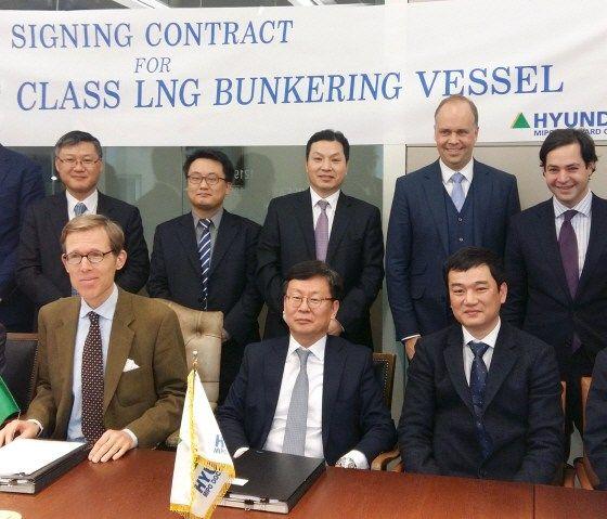 Hyundai Mipo Dockyard(HMD)  signed 1 LNG bunkering vessel to build