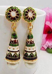 Luxurious Meenakari Enhanced Earrings