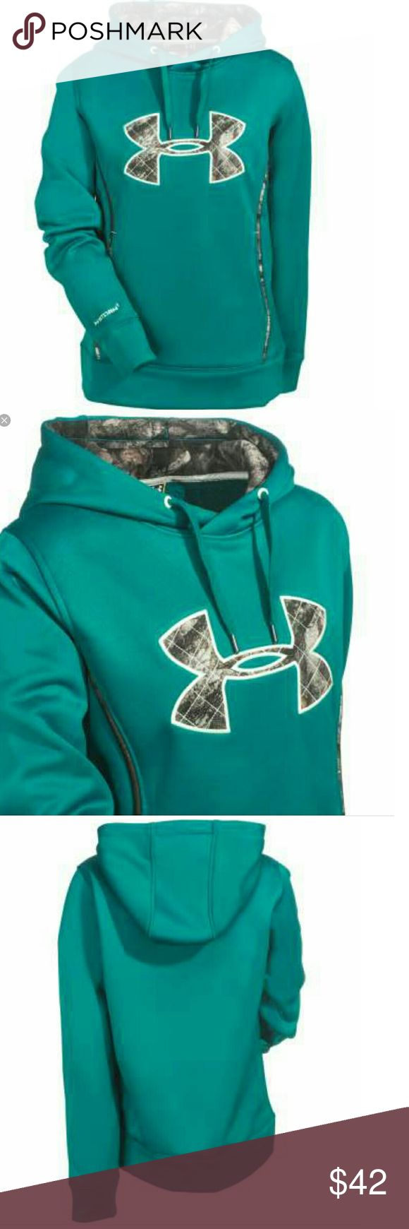 Women's under armour storm NWT Green with camo ua 1247106 color. 313  Size sm and med (ta) under armour Tops Sweatshirts & Hoodies