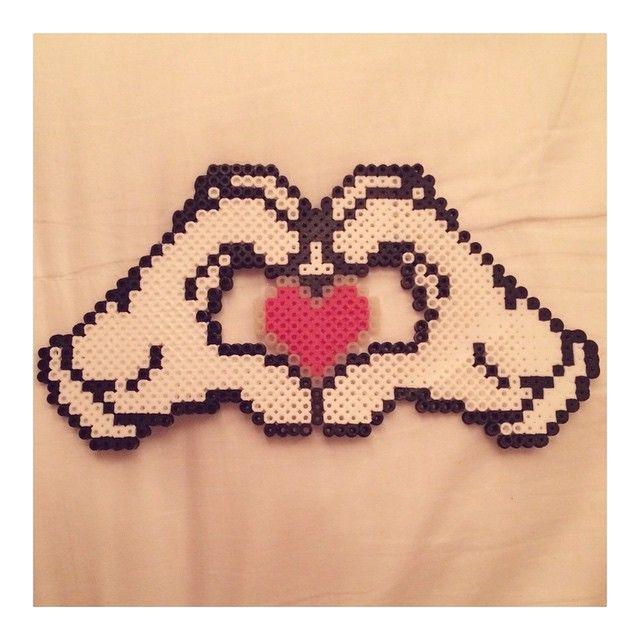 Love heart perler beads by lilaclittlepisces