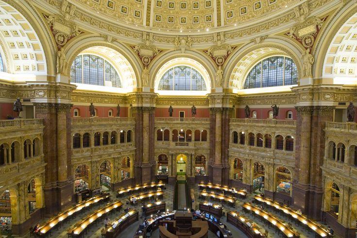 El espectacular salón de lectura de la Biblioteca del Congreso, Washington - Bibliotecas para no estudiar