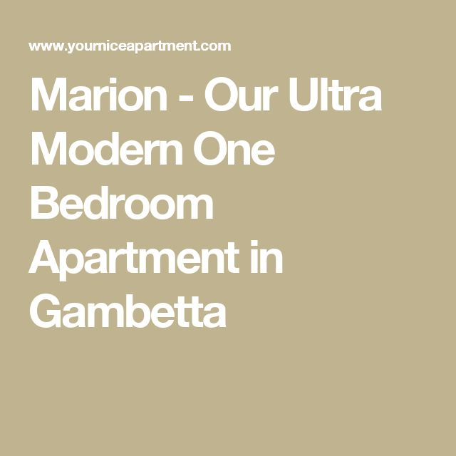 Marion - Our Ultra Modern One Bedroom Apartment in Gambetta