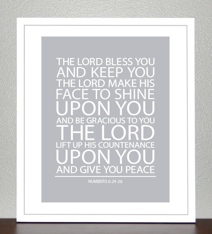Nursery Decor - Baptism Gift - Bible Verse - Numbers 6 - 11x14 Print. $26.00, via Etsy.