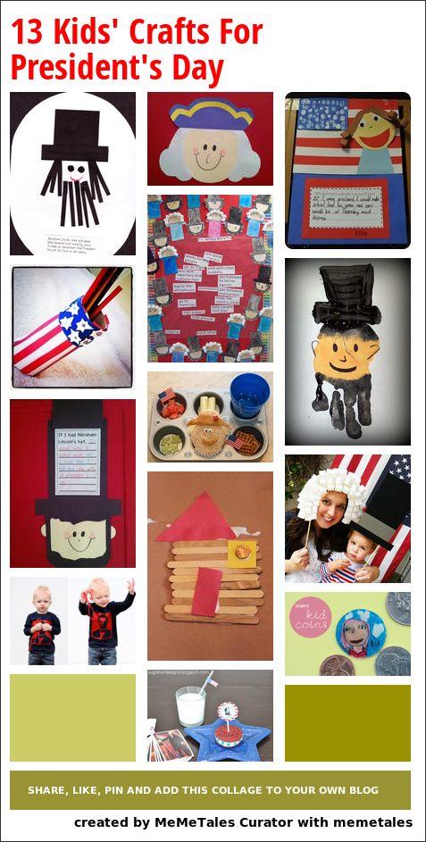 13 fun crafts for President's Day (Valentins Day Kindergarten Science)