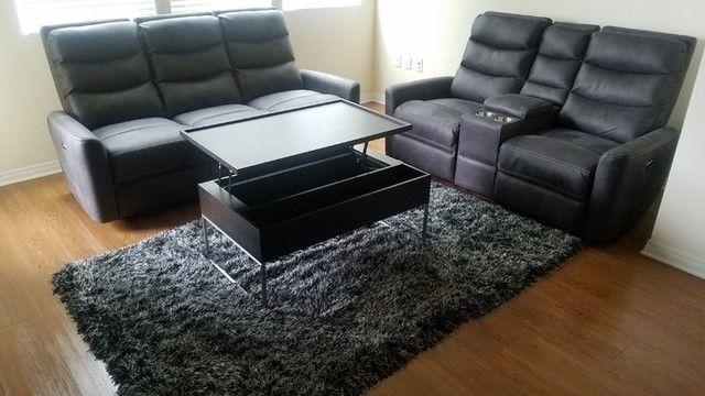 Malia Power Reclining Sofa With Usb Port Grey 695 In 2020