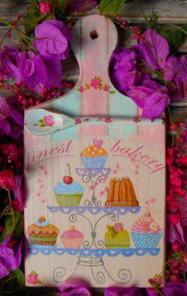 Placa Cupcakes