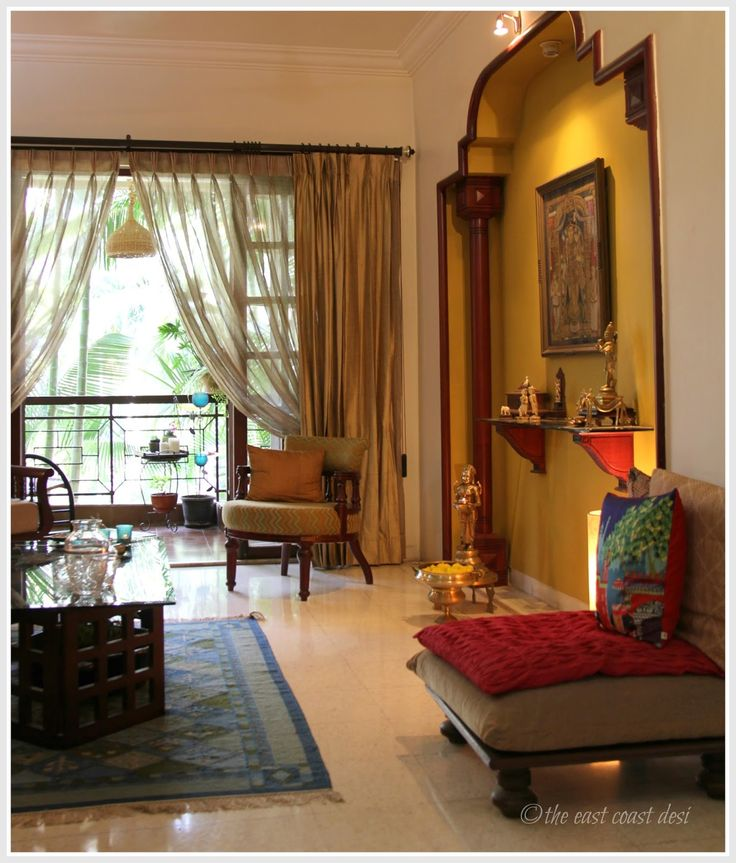 Best 25 indian home design ideas on pinterest indian for Small apartment interior design india