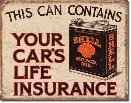 Blechschild Shell - Life Insurance-DE2088