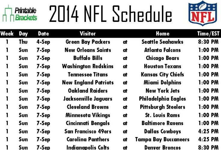nfl football schedule 2014 | 2014-NFL-Schedule.jpg