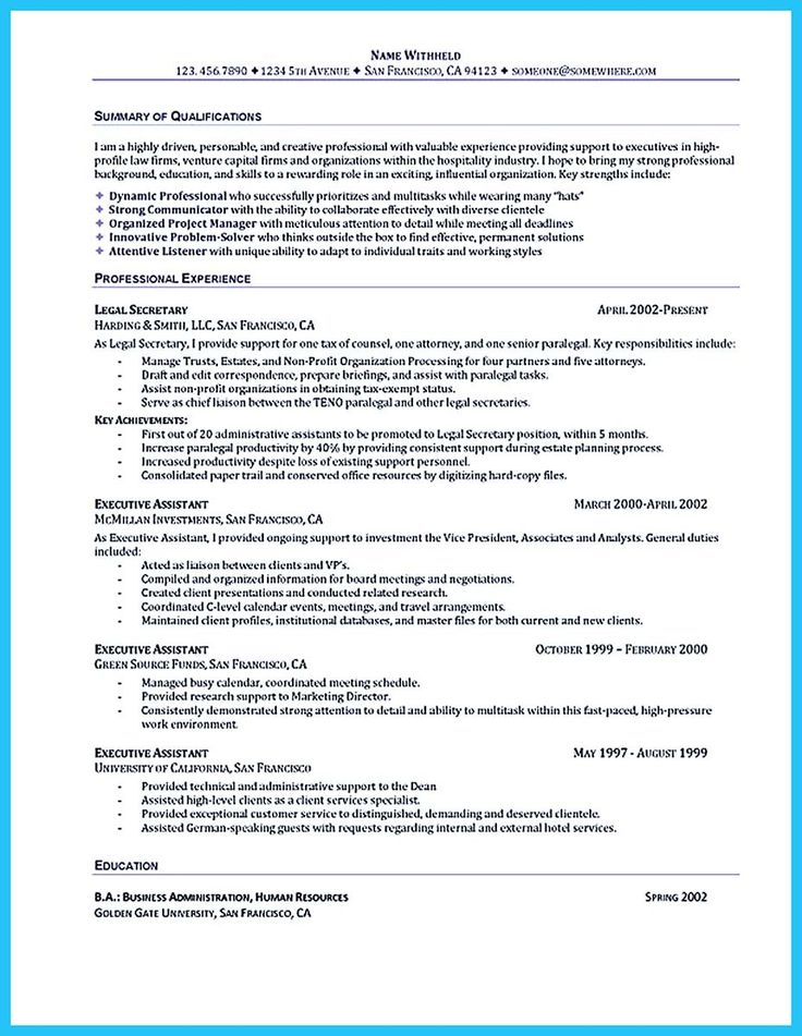 Best 25 Administrative assistant resume ideas – Administrative Assistant Resume