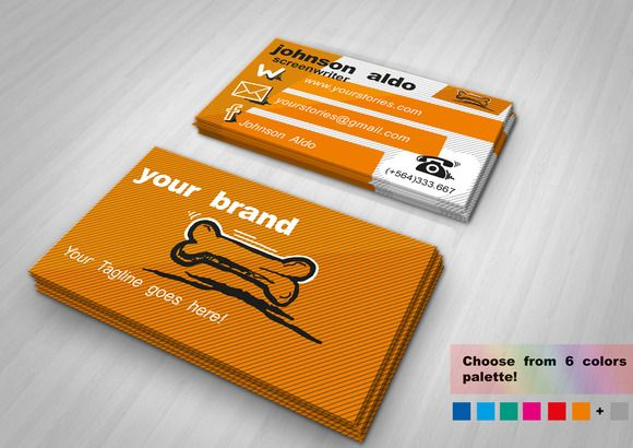 Cartoony Business Card by NicuB on Creative Market