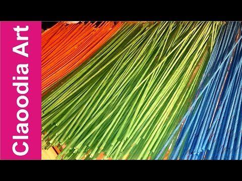 Malowanie i suszenie rurek z papierowej wikliny #2 (how to paint wicker paper tubes?) +ENG - YouTube