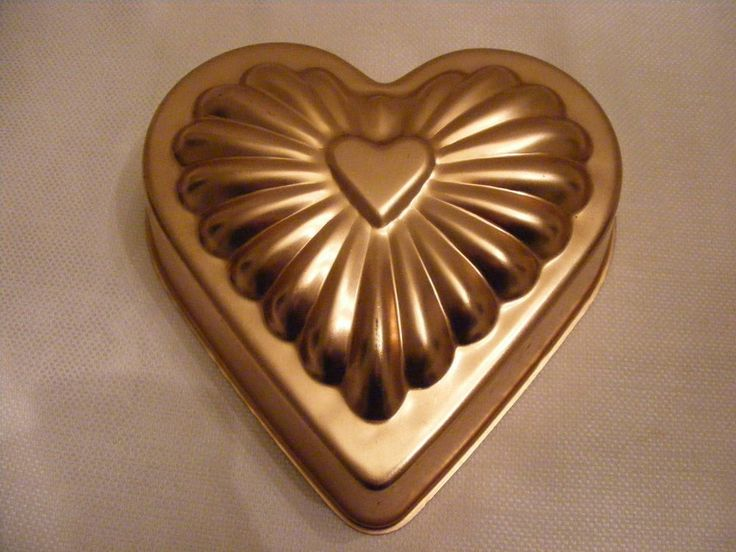 Copper Jello Mold Wall Hanging Cake Pan Heart Love