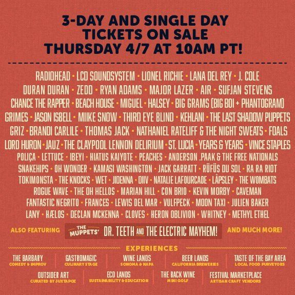 After releasing initial tickets for sale last month without a lineup, San Francisco's Outside Lands finally unveiled the 2016 lineup today. This year's Outsi...